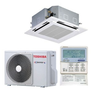 300x300 condizionatore toshiba cassetta standard light commecial sm utp 24000 btu inverter a con comando a filo
