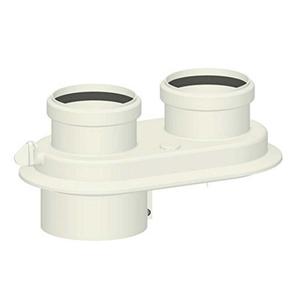 300x300 kit sdoppiato scarico fumi o 80 slash 80 sdoppiatore universale per caldaie a condensazione in pp