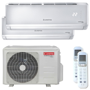 300x300 condizionatore ariston r32 plus dual split 9000 plus 12000 btu inverter a plus unita esterna 50 kw r32