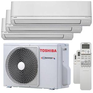 300x300 condizionatore toshiba shorai r32 trial split 5000 plus 9000 plus 12000 btu inverter a plus plus unita esterna 5200 watt ue