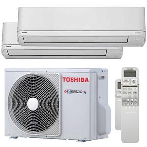 300x300 condizionatore toshiba shorai r32 dual split 9000 plus 9000 btu inverter a plus plus unita esterna 5200 watt ue