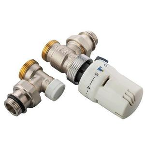 300x300 kit termostatico ercos con valvola termostatica e detentore a squadra allacci 1 slash 2 m per radiatori