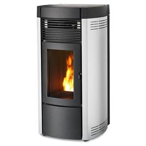 300x300 stufa a pellet mcz musa comfort air 14 m1 white 138 kw aria canalizzabile con app maestro