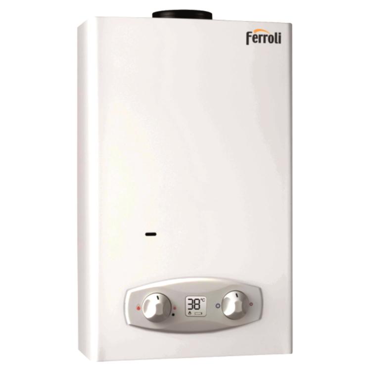 scaldabagno istantaneo a gas ferroli zefiro eco 11 camera aperta 11 l/min. gpl