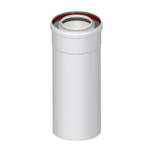 300x300 elemento dritto coassiale universale m slash f o 60 slash 100 250 mm per scarico fumi caldaia a condensazione