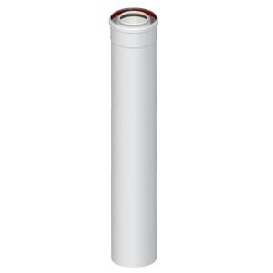 300x300 elemento dritto coassiale universale m slash f o 60 slash 100 da 1000 mm per scarico fumi caldaia a condensazione