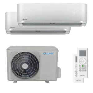 300x300 condizionatore clivet essential 2 dual split 9000 plus 9000 btu inverter a plus plus unita esterna 4 kw ue