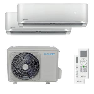 300x300 condizionatore clivet essential 2 dual split 9000 plus 9000 btu inverter a plus plus unita esterna 5400 watt ue