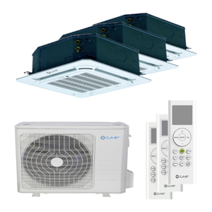 300x300 condizionatore clivet cassetta 4 vie mini trial split 9000 plus 9000 plus 12000 btu inverter a plus plus unita esterna 8 kw ue