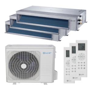 300x300 condizionatore clivet canalizzabile slim trial split 12000 plus 12000 plus 18000 btu inverter a plus plus unita esterna 10600 watt ue