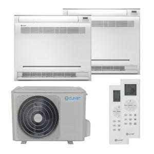 300x300 condizionatore clivet console dual split 9000 plus 9000 btu inverter a plus plus unita esterna 5400 watt ue