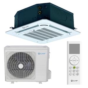 300x300 cassetta 4 vie clivet 12 dot 000 btu per sistemi light commercial inverter gas r32
