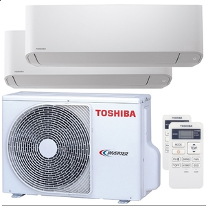 300x300 condizionatore toshiba seiya dual split 5000 plus 5000 btu inverter a unita esterna 4 kw ue