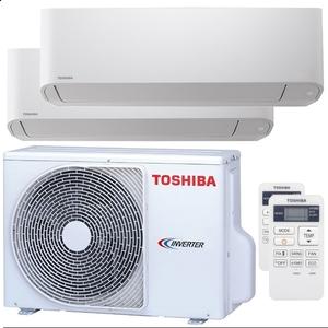 300x300 condizionatore toshiba seiya dual split 5000 plus 7000 btu inverter a plus unita esterna 4 kw ue