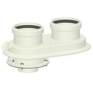 300x300 kit sdoppiato scarico fumi sdoppiatore universale o 80 slash 80 per caldaie a condensazione in pp