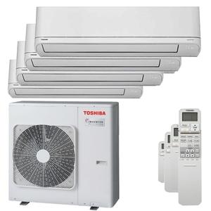 300x300 condizionatore toshiba shorai r32 quadri split 5000 plus 5000 plus 7000 plus 12000 btu inverter a plus unita esterna 8 kw ue