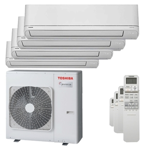 300x300 condizionatore toshiba shorai r32 quadri split 5000 plus 5000 plus 7000 plus 9000 btu inverter a plus unita esterna 8 kw ue