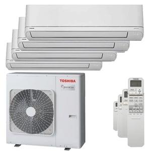 300x300 condizionatore toshiba shorai r32 quadri split 9000 plus 9000 plus 12000 plus 12000 btu inverter a plus unita esterna 8 kw ue