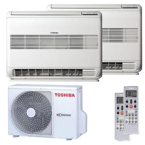 300x300 condizionatore toshiba console dual split 9000 plus 9000 btu inverter a plus plus unita esterna 4 kw ue