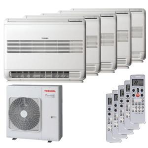 300x300 condizionatore toshiba console penta split 9000 plus 9000 plus 12000 plus 12000 plus 12000 btu inverter a plus plus unita esterna 10 kw ue