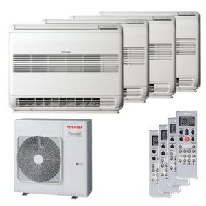 300x300 condizionatore toshiba console quadri split 12000 plus 12000 plus 12000 plus 12000 btu inverter a plus unita esterna 8 kw ue