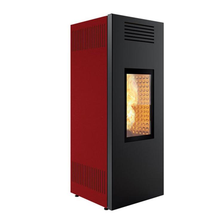 stufa a pellet caminetti montegrappa  noir nx10 evo 9 kw rossa ad aria canalizzabile
