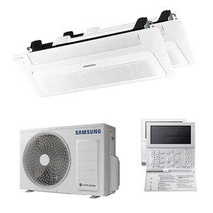 300x300 condizionatore samsung cassetta windfree 4 vie dual split 9000 plus 9000 btu inverter a plus plus plus unita esterna 4 kw ue