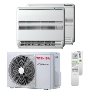 300x300 condizionatore toshiba console j2 dual split 9000 plus 12000 btu inverter a plus plus unita esterna 4 kw ue