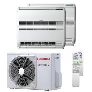 300x300 condizionatore toshiba console j2 dual split 9000 plus 9000 btu inverter a plus plus unita esterna 4 kw ue