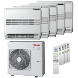 300x300 condizionatore toshiba console j2 penta split 9000 plus 9000 plus 12000 plus 12000 plus 12000 btu inverter a plus plus unita esterna 10 kw ue