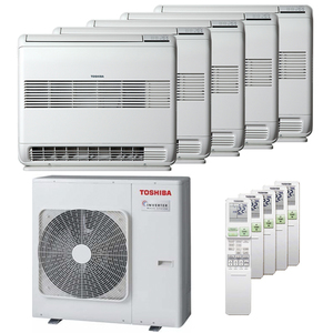 300x300 condizionatore toshiba console j2 penta split 9000 plus 9000 plus 9000 plus 12000 plus 12000 btu inverter a plus plus unita esterna 10 kw ue