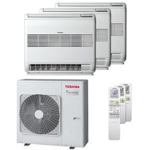 300x300 condizionatore toshiba console j2 trial split 9000 plus 12000 plus 12000 btu inverter a plus unita esterna 7500 watt ue