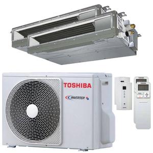 300x300 condizionatore toshiba canalizzabile u2 dual split 9000 plus 12000 btu inverter a plus plus unita esterna 4 kw ue