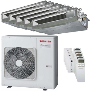 300x300 condizionatore toshiba canalizzabile u2 penta split 9000 plus 9000 plus 9000 plus 9000 plus 12000 btu inverter a plus plus unita esterna 10 kw ue