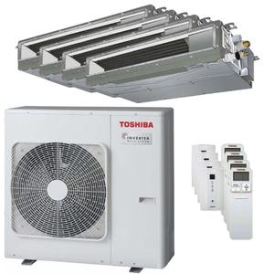 300x300 condizionatore toshiba canalizzabile u2 quadri split 12000 plus 12000 plus 12000 plus 12000 btu inverter a plus unita esterna 8 kw ue