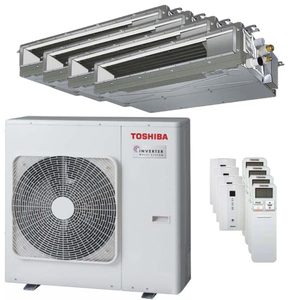 300x300 condizionatore toshiba canalizzabile u2 quadri split 7000 plus 9000 plus 9000 plus 24000 btu inverter a plus unita esterna 8 kw ue