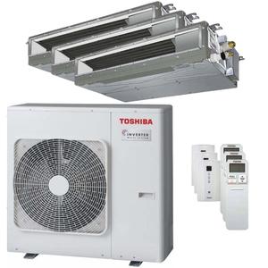 300x300 condizionatore toshiba canalizzabile u2 trial split 12000 plus 12000 plus 24000 btu inverter a plus unita esterna 8 kw ue