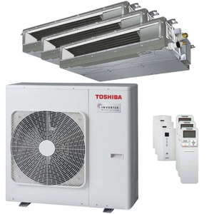 300x300 condizionatore toshiba canalizzabile u2 trial split 9000 plus 9000 plus 22000 btu inverter a plus plus unita esterna 7500 watt ue