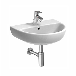 300x300 lavamani 50 geberit selnova 50 cm 1 e 3 fori sospeso bianco lucido