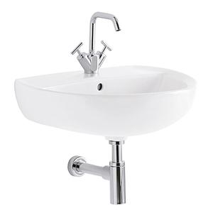 300x300 lavabo geberit colibri 65 cm 1 e 3 fori sospeso bianco lucido
