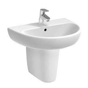 300x300 semicolonna per lavabo pozzi ginori selnova pro bianco lucido