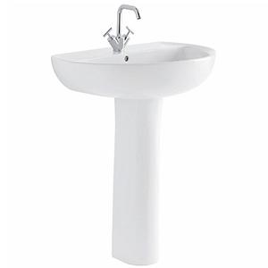 300x300 colonna per lavabo geberit colibri bianco lucido