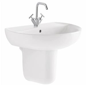 300x300 semicolonna per lavabo geberit colibri bianco lucido