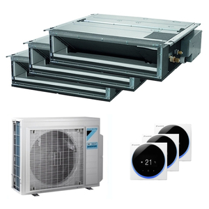300x300 condizionatore daikin canalizzabile slim trial split 9000 plus 12000 plus 12000 btu inverter a plus plus unita esterna 6800 watt ue 3mxm68n fdxm25f9 3 f29c79