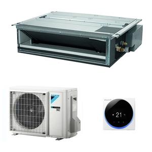 300x300 condizionatore daikin dc plus canalizzabile 18000 btu inverter a plus con comando a muro r32