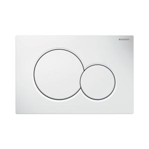 300x300 placca geberit sigma 01 bianca per risciacquo a due quantita