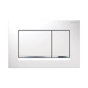 300x300 placca geberit sigma 30 bianca per risciacquo a due quantita