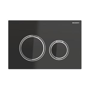 300x300 placca geberit sigma 21 cromato nero per risciacquo a due quantita