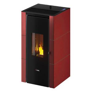 300x300 stufa a pellet cadel cristal 7 rossa 7 kw ad aria con wifi