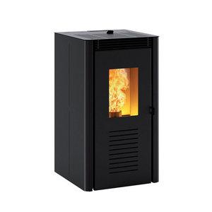 300x300 stufa a pellet caminetti montegrappa nodo 42 kw ad aria ventilata nera